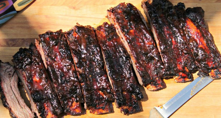 Spare Ribs Grillen Gasgrill : Maple chiptotle beef back ribs on the gas grill beef