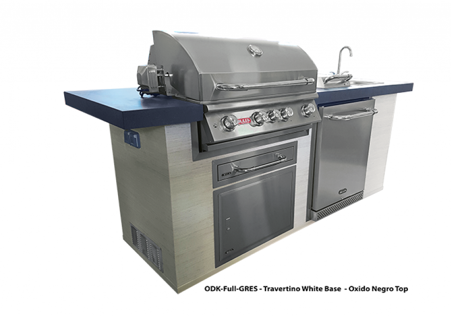 Bull Outdoor Kitchen innovative finishes by Coverlam europe, bbq europe, bull bbq europe