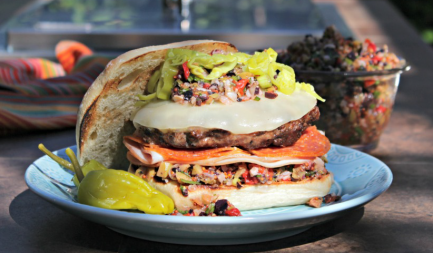 Elevate your Tailgate: Muffaletta Burger europe, bbq europe, bull bbq europe