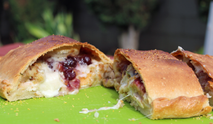 Thanksgiving in a Calzone: Leftovers Revisited europe, bbq europe, bull bbq europe